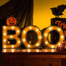 Home Party Decor Glitzhome Halloween Led Boo Sign Light Home Party Decorations