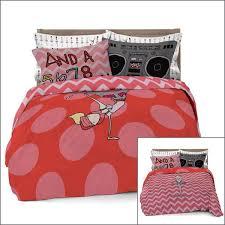 ballerina reversible comforter set with pillowcases for kids