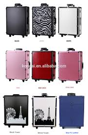 professional makeup lighting portable new design lights aluminum beauty luggage set with drawers