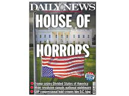 American Flag Upside Down New York Daily News Dubs Trump White House A U0027house Of Horrors