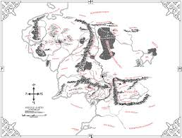 Map Middle Earth The Great Void
