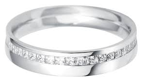palladium wedding rings palladium offset princess cut diamond set wedding ring palladium