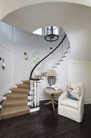 indoor stair railing staircase beach style with lighting cushioned