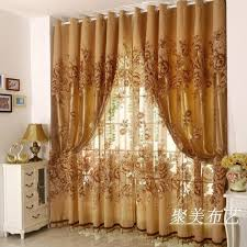 Curtains Set 1 Pc Curtain And 1 Pc Tulle Peony Luxury Window Curtains Set For