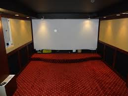 backyard theater system photo with awesome movie screen fabric