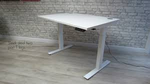 Electric Sit Stand Desk by New Liberty Budget Electric Sit Stand Desk Youtube