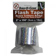 Scare Birds Away From Patio by Bird B Gone Holographic Flash Tape Scare Birds From Garden