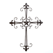 details about wrought iron fleur de lis wall cross hanging home details about wrought iron fleur de lis wall cross hanging home decor