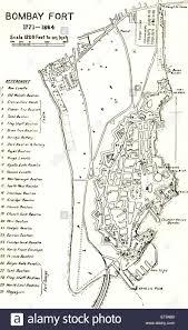 Mumbai Map Bombay Map Bombay Fort 1771 1864 Mumbai Maharashtra
