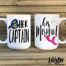 his mugs captain his mermaid mugs ladybee boutique