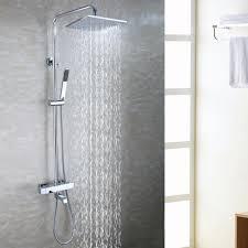 bath tub exposed shower faucet set 10 inch bathroom rain shower