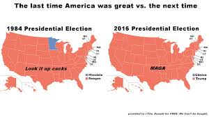 1984 Presidential Election Map by U0027member When The United States Were Actually United I U0027member