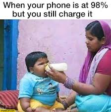 Kid On Phone Meme - when your iphone is at 98 percent but you still charge it fat kid