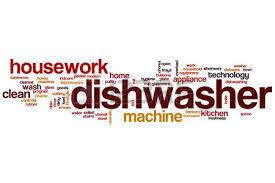 mot de cuisine lave vaisselle notion mot de nuage avec des étiquettes appareil de