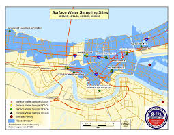 Maps Of New Orleans by Flood Water Test Results Water Issues Response To 2005