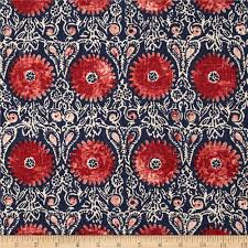 Fabric Home Decor Ideas Decor Riya Red And Blue Duralee Fabrics For Home Decoration Ideas
