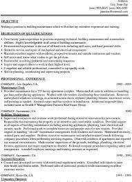 sample resume for building maintenance worker build resume smart