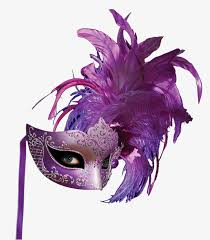 feather mask purple feather masks purple feather mask png image and clipart