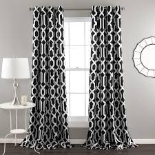 Black And White Window Curtains Edward Window Curtain Set Lush Decor Www Lushdecor