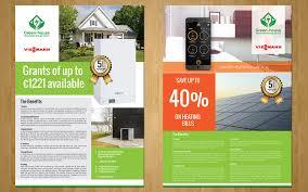 elegant modern flyer design for green house renewable energy by