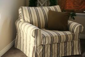 Custom Slipcovers By Shelley Custom Slipcovers By Shelley Striped Oversized Chair