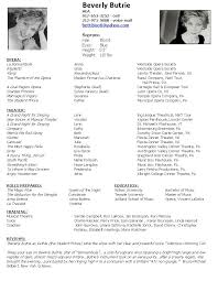 theater resume template musical theatre resume template theatre resume template e