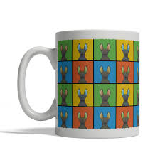 peruvian hairless dog mug cartoon pop art coffee cup tea cup