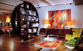 60s style furniture installation in retro style furniture and the colors of the 60s