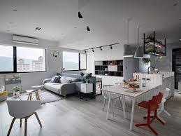 Exudes by Kitchen White Chair Medium Rug Sofa Big Windows A Scandinavian