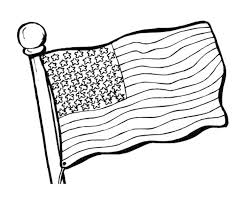 Black And White Us Flag American Flag Coloring Page For The Love Of The Country