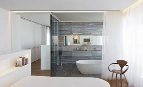 bathroom in bedroom ideas glass bathroom wall home design