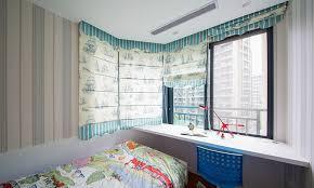 minimalist style children u0027s room curtains single bed interior