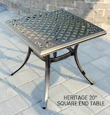 Heritage Patio Furniture Agio Heritage 20 U2033 Square End Table U2013 Kuebler U0027s Furniture