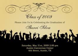 graduation invitation sles
