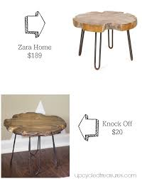 Zara Home Side Table Mountain Modern Small Rustic Stool With Diy Hairpin Style Legs