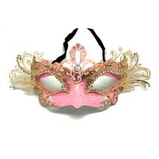 pink mardi gras mask pink decorative metal venetian mask