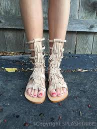 fringe gladiator sandal splashtribe