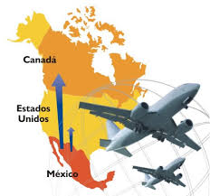 map usa y canada door to door air freight and cargo service between mexico usa and
