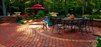 Define Backyard Red Paver Patio Entry Walkways And Foyers Backyard Entrances