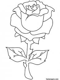 printable valentines rose coloring pages printable coloring