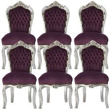 set of 6 beautifully hand crafted baroque style dining room chair