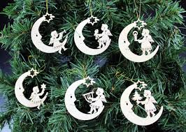 and moon ornament set