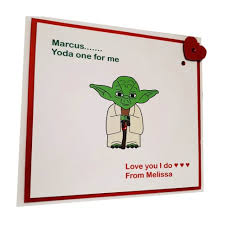yoda valentines card yoda one for me valentines card handmade cards by kd
