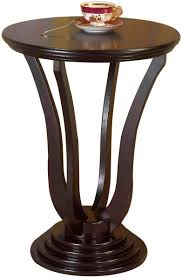 Round Dark Wood Coffee Table - amazon com frenchi home furnishing end table side table espresso