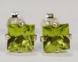 peridot earrings peridot earrings etsy