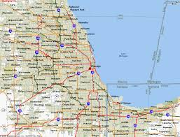 chicago map map of chicago il