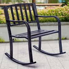 Rocking Chair Patio Furniture by Metal Patio Chairs Ebay