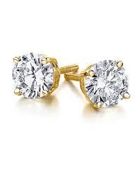 gold diamond stud earrings 1 00ct diamond 14k yellow gold stud earrings backs