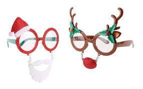 christmas glasses novelty glitter reindeer santa claus christmas glasses specs fancy