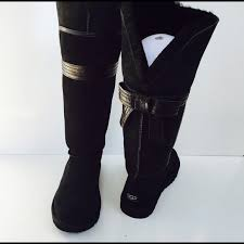ugg s genevieve boot 50 ugg boots ugg black genevieve the knee bow boot